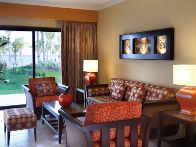 Meksyk - hotel Barcelo Maya Palace Deluxe, apartament Presidential Suite Ocean Front Club Premium, tropical sun