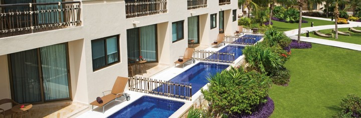 Meksyk - hotel Dreams Riviera Cancun, pokoje Premium Deluxe with Plunge Pool, tropical sun