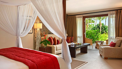 Seszele - hotel Kempinski Seychelles Resort, apartament One Bedroom Hill View, tropical sun