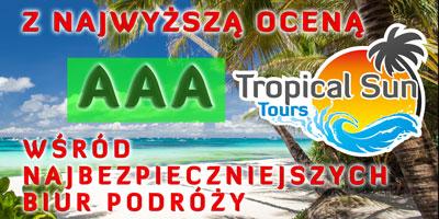 Tropical Sun Tours - Tropical Sun Tours z najwyższą oceną bezpieczeństwa AAA zgodnie z aktualnym rankingiem biur podróży