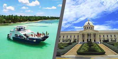 Dominikana - wycieczka DWUPAK PREMIUM Saona Luxury VIP i Santo Domingo Premium