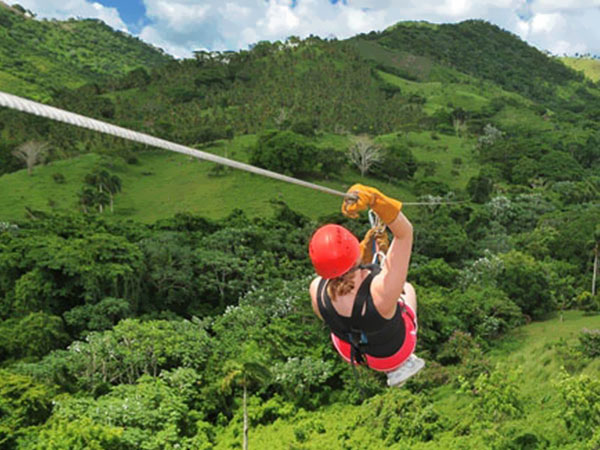 Canopy Adventure Zip Line, Dominikana, park linowy, Tropical Sun